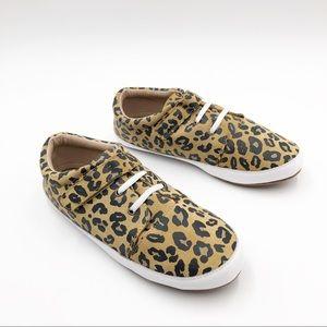 Monkey Feet Mommy Leopard Leather Low Tops